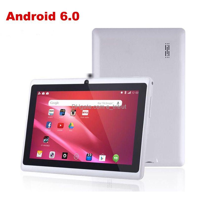 Android 6.0 7 Inç Ekran Tablet PC A33 Dört Çekirdekli Q8 Allwinner Android6.0 Kapasitif 1.5 GHz 1 GB RAM 8 GB ROM WIFI Bluetooth Çift Kamera Feneri Q88 Hatmi