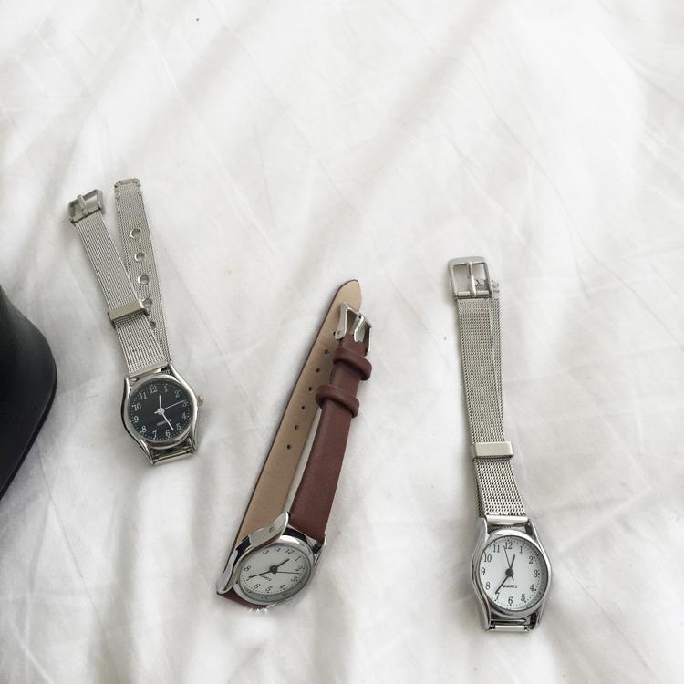 Korean Style Small Dial Mesh Belt Watch Fashionable Temperament Retro Quartz Bangle