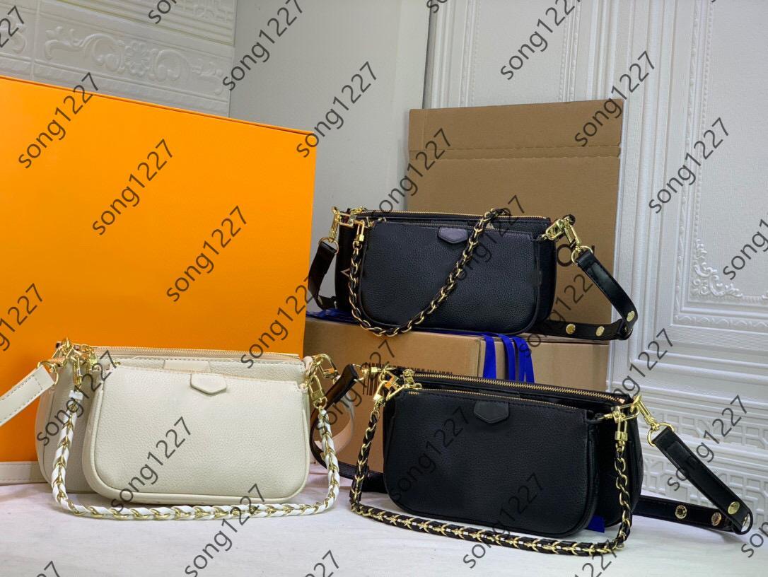 Sacos de ombro compostos 80 L 447 bolsa de duas peças Moda clássica Smalls e estilo de zíper de luz com saco pequeno de suspensão pode ser oblíquo