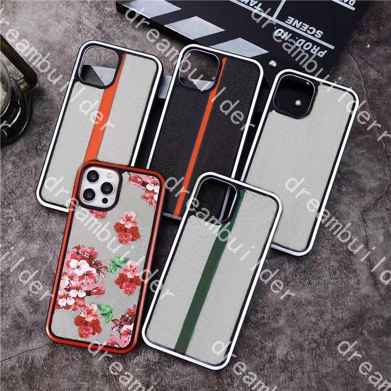 Casos de telefone de moda para iphone 12 pro máximo 11 11pro 11promax x xs xr xsmax pu clássico protecção de couro de proteção capa de desenhista com caixa
