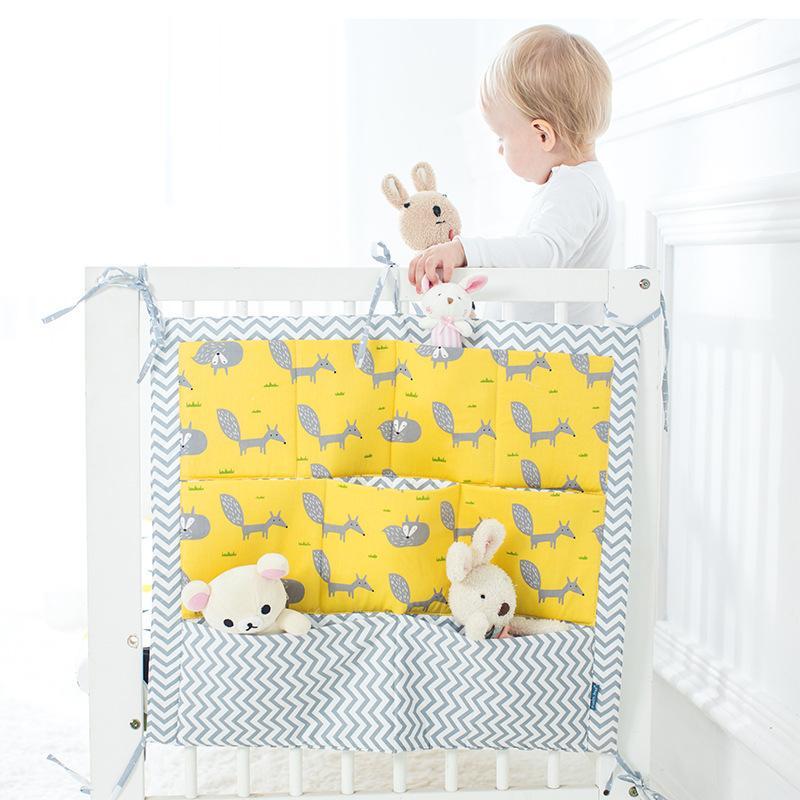 Brand New Baby Bed Bed Bed Appeso Sacchetto di stoccaggio Pannelli Culla Borsa da stoccaggio Organizzatore 60 * 50 cm Pocket pannolino giocattolo per culla Set di biancheria da letto Flaming0 1257 Y2