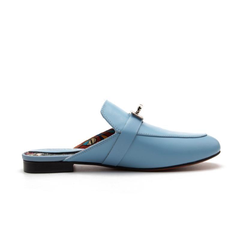 أحذية نسائية فاخرة H الجلود الصيف النعال المسطحة المصممين 2021 ماركة أزياء خارج البغال مع