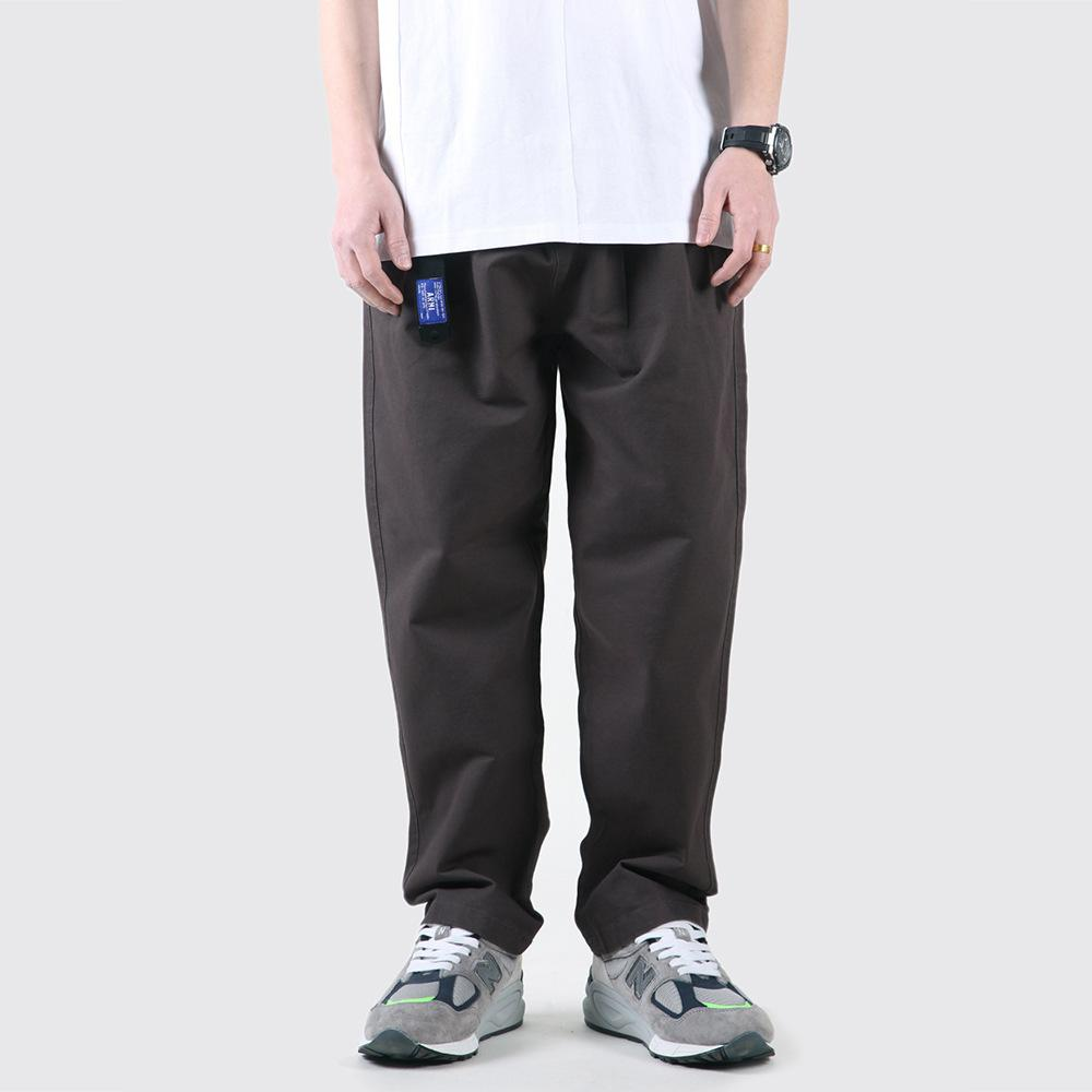 Mono sólido Menores Hombre High Street Tendencia suelta Pantalones rectos Verano Casual Pierna