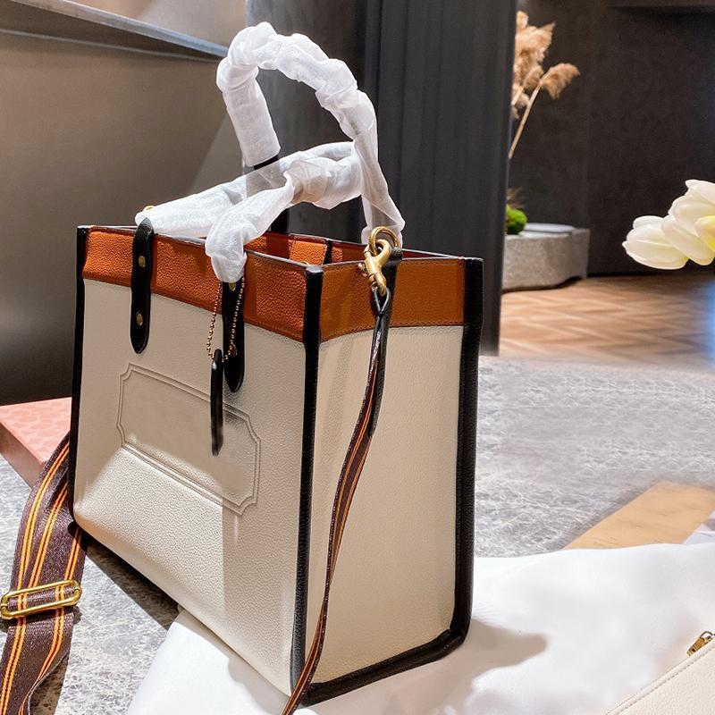 C-Bags Moda Mulheres Handbags Classic Coated Canvas Saco Saco Senhora Grande Capacidade Totes Mulheres Beach Beach Bolsas Bolsas Bolsas Com Forte Pega