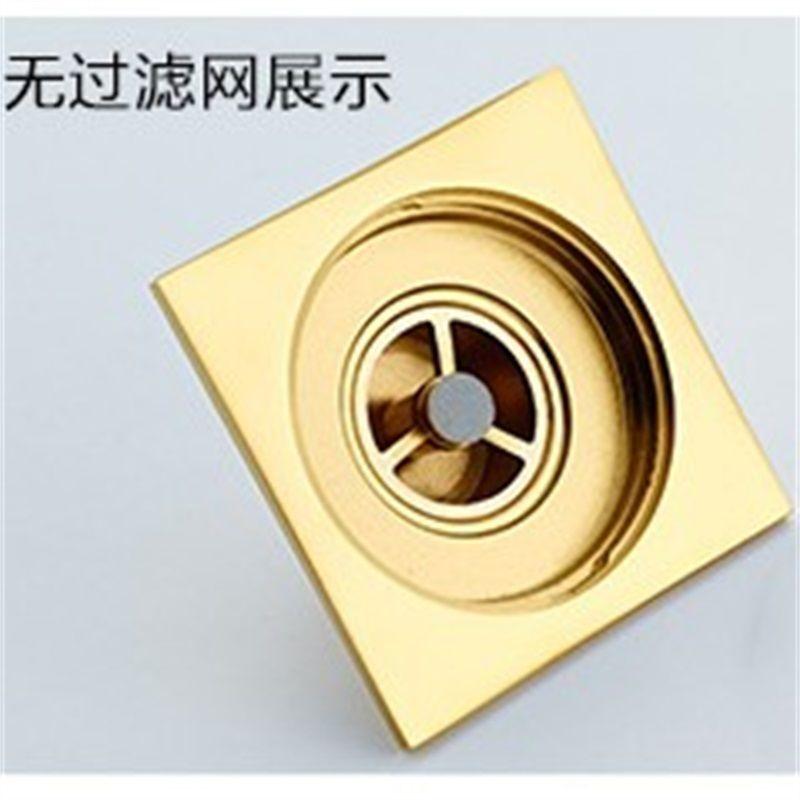 Uythner Bath Floor Drain 10 * 10 cm Gold Bathroom Doccia Doccia Scolare Scolare Filtro Fabbrica Direct Sales da bagno Drain Piano T200715 604 R2