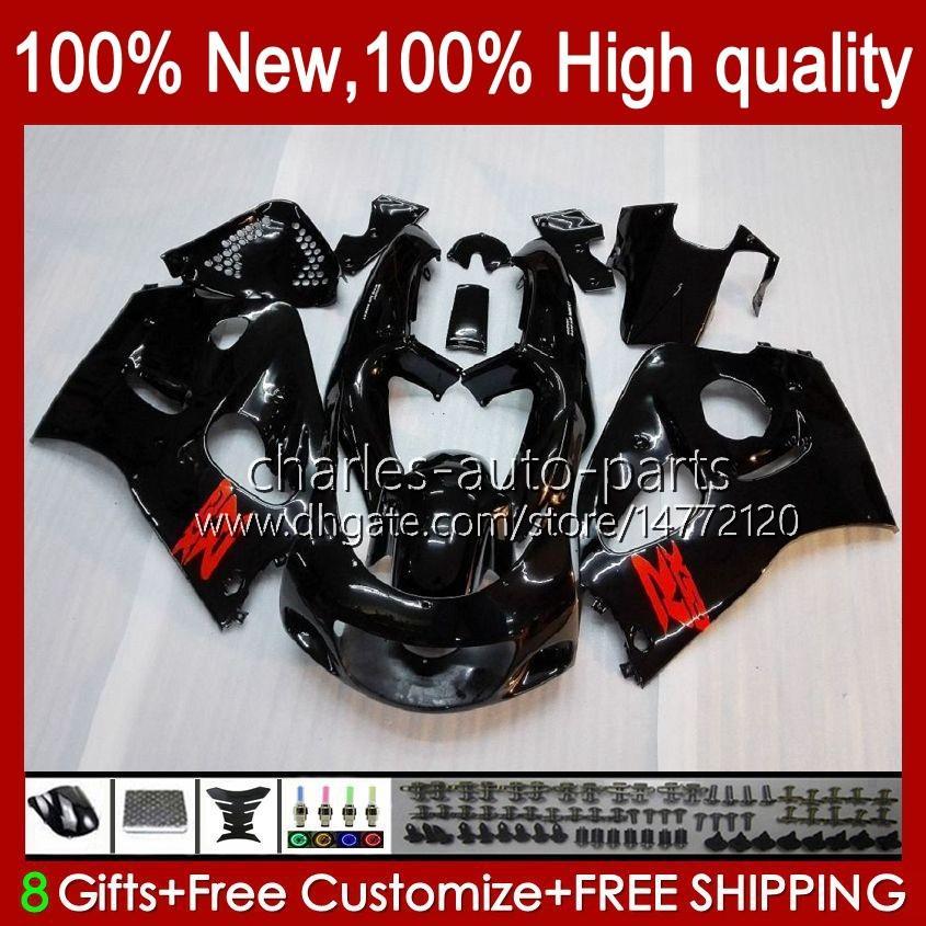 Kit de feiras para Suzuki Srad GSXR 750 600 CC 600cc 750CC 96-00 Bodywork 22No.0 GSXR750 GSXR-600 96 97 98 99 00 GSX-R750 GSXR600 1996 1997 1998 2000 Bodys Lustroso Black
