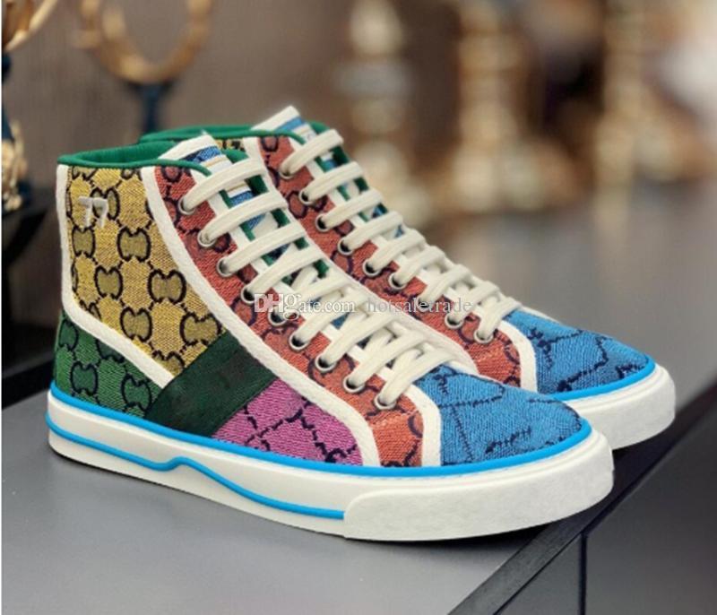 Tennis 1977 Designer Sneaker Sneaker di lusso Scarpe Canvas Beige Blue Lavato Jacquard Eenim Uomo Donna Scarpe Donne Ace Suola in gomma ricamata Vintage Scarpe da ginnastica casual