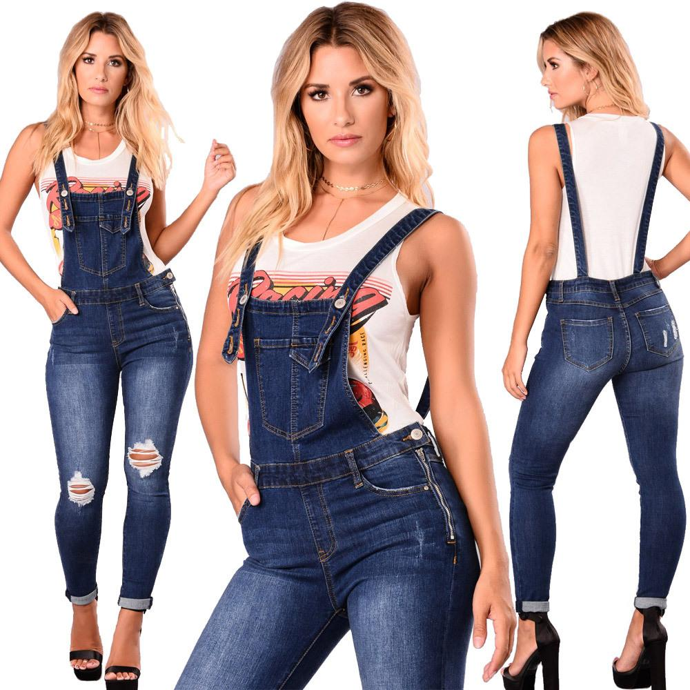 Women's Jeans Boyfriend Couple Ripped Jumpsuit Sleeveless Denim Overalls For Women Holiday Backless Hole 2021 Casual Clothing