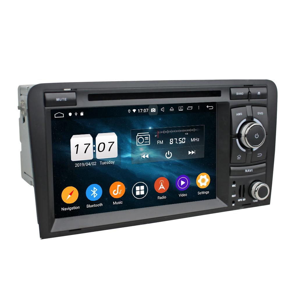 """4GB + 128GB 2 DIN 7 """"PX6 Android 10 자동차 DVD 플레이어 Audi A3 S3 RS3 2002-2008 DSP 라디오 GPS 네비게이션 블루투스 5.0 WiFi Easy Connect"""