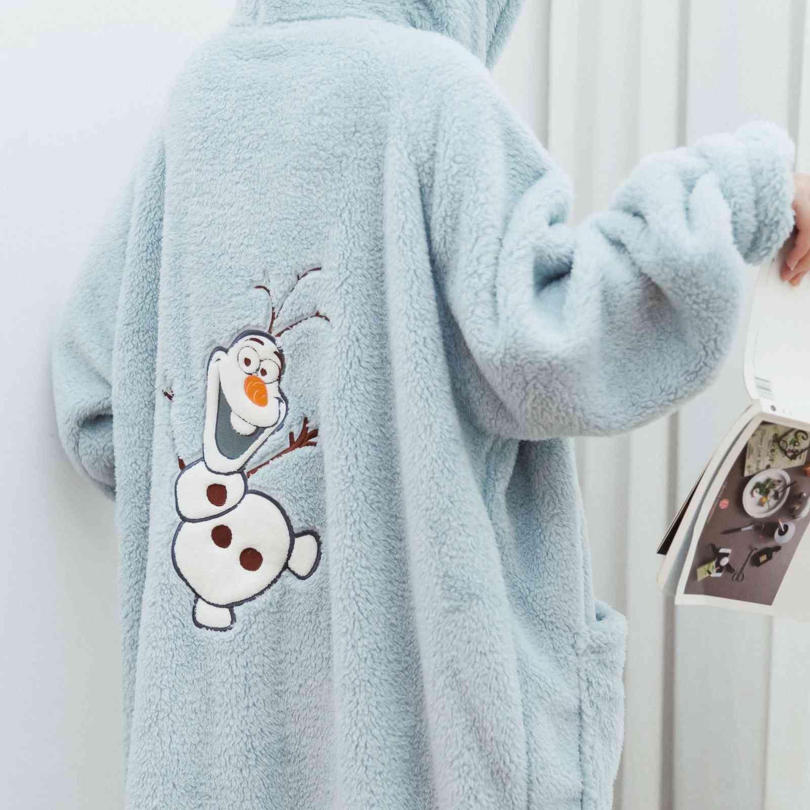 ropa de dormir otoño y cómodo algodón con capucha con capucha con capucha de oro suelto Video largo camisón de mujer invierno invierno pijamas en casa ropa de hogar