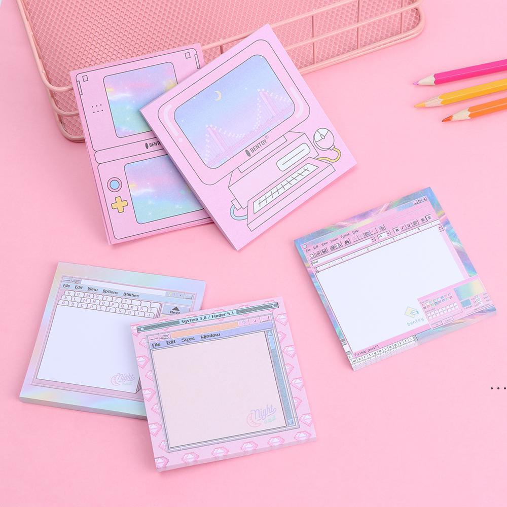 Nuevo 1PC 50SHEET Juego de computadora Modelado Memo Pad N Times Sticky Notes Notas Memo Bloc Notepad Bookmark Planner Pegatinas Papelería HWC7286