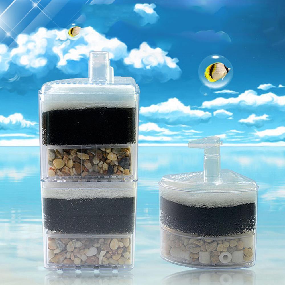 Bomba de aire del camarón del tanque de pescado Filtro de filtración bioquímico bio esponja acuario Filtro