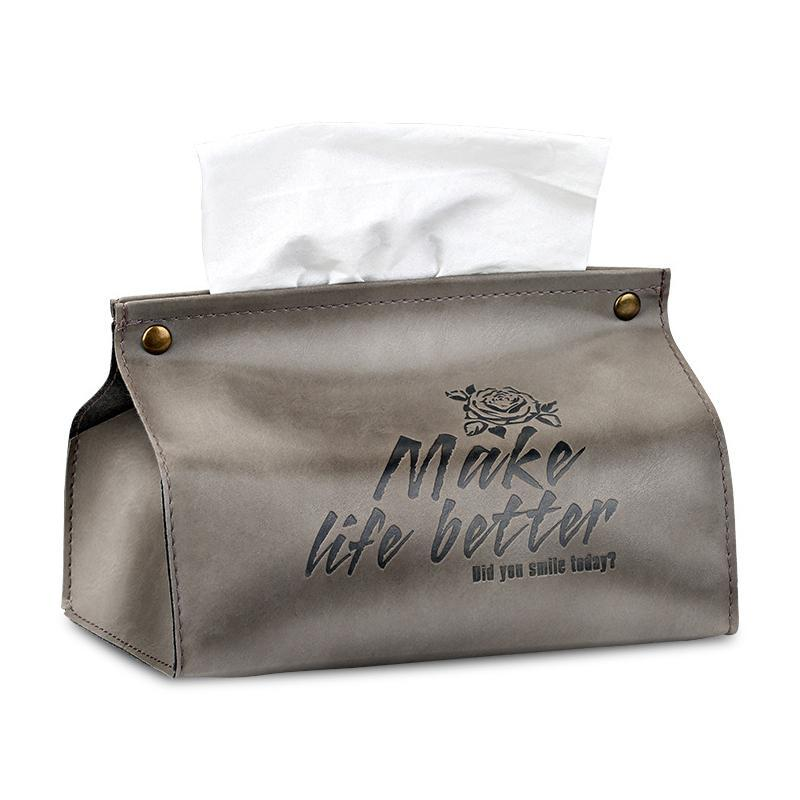 الجلود طوي ورقة حامل الأنسجة حالة الجدول ديكور منديل موزع اليد منشفة حقيبة المطبخ مربع المرحاض مربع صناديق المناديل