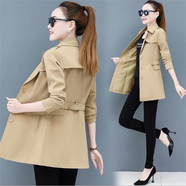 Giacca di abbigliamento femminile di primavera e autunno moda nuovo cappotto a mezza lunghezza temperamento giacche a vento giacche cappotti vestiti