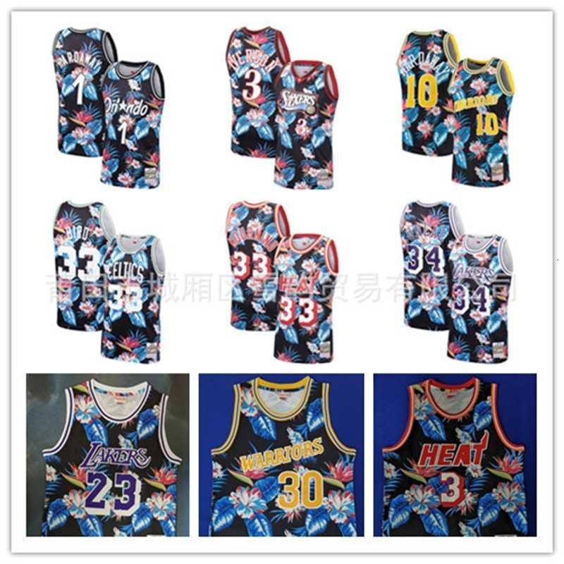 A Jersey fashion Men's Tracksuits flower special edition embroidered basketball suit