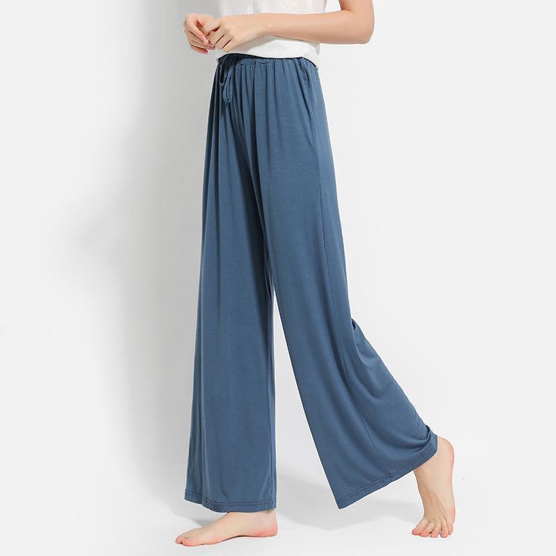 TRAF Joggers Sweatpants Frauen Hohe Taille Hose Modal Lose Plus Größe Dünn Weiche Breite Bein Weibliche Gerade Drapieren Frauen Capris