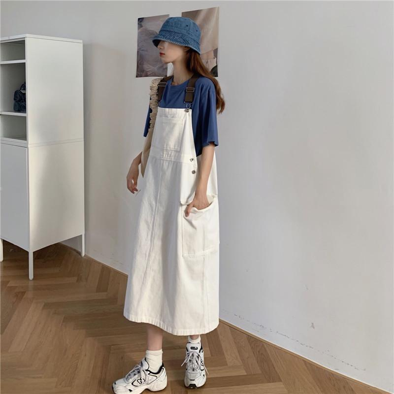 Women's Casual Dresses summer 2021 Vintage temperament college style small man long skirt