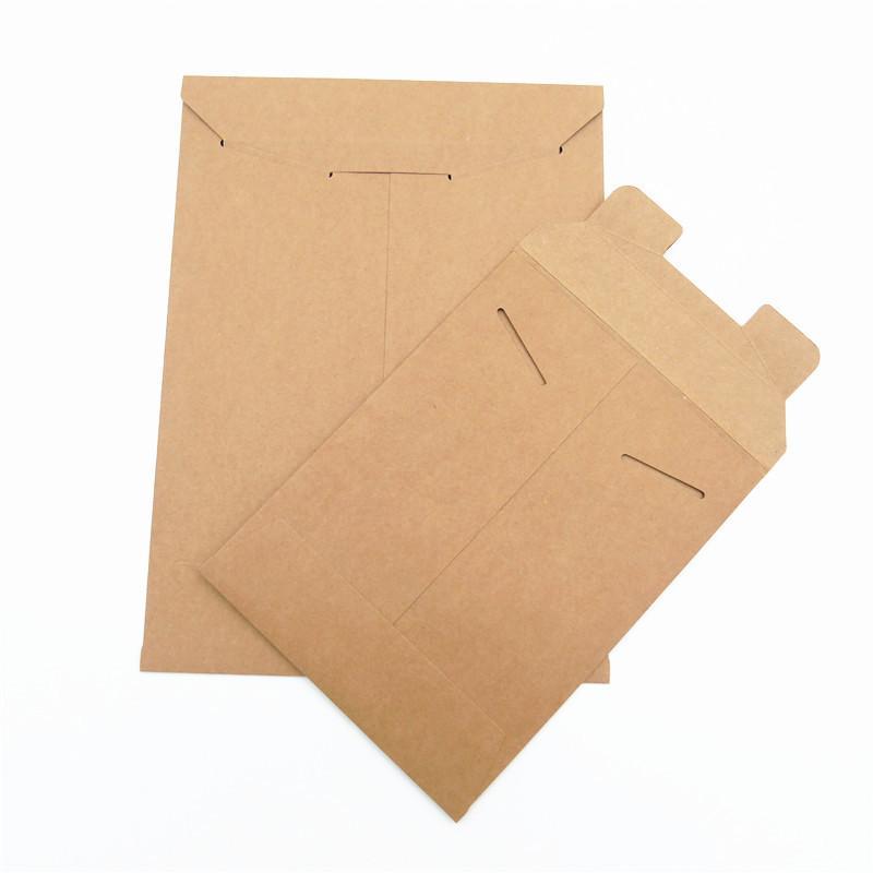 100pcs / lot Marron Kraft Papier A5 / A4 Dossier de documents Sac de stockage de poche enveloppe de poche
