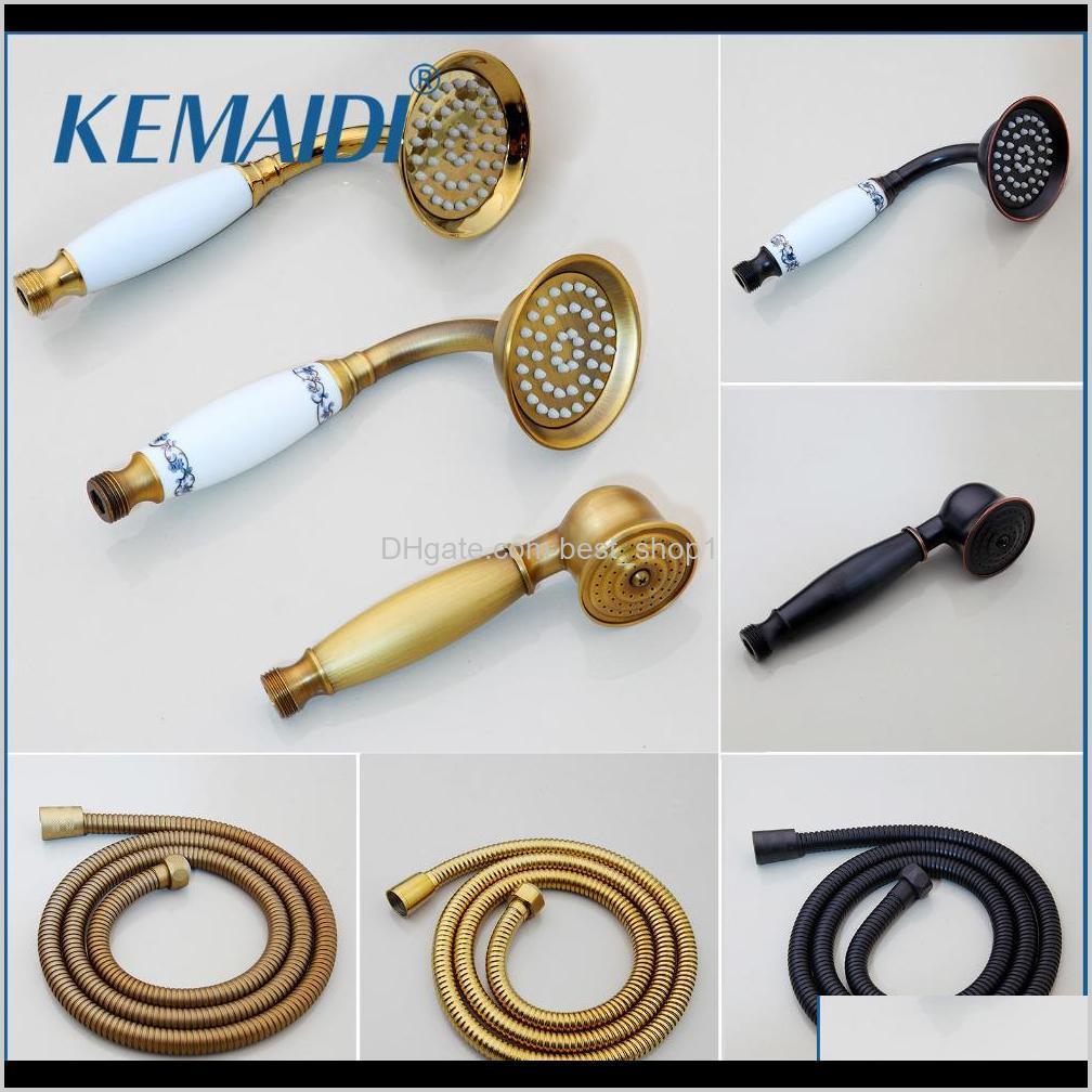 Cabezas Faucets Duchas Accs Home Garden Drop Entrega 2021 Kemaidi Manera de latón Rociador Agua Ahorro de agua Para Accesorios de baño Oro Sho