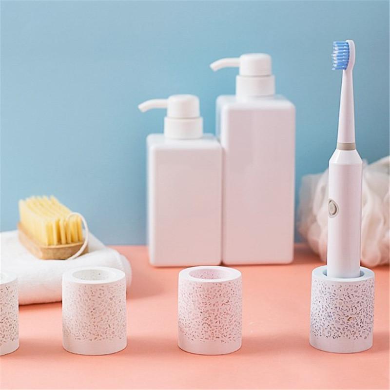 Nuovo titolare del denti del fango del diatom Bagno ad asciugatura rapida assorbente assorbente di spazzolino da denti da spazzolino da denti stile nordico supporto dentifricio in denti denti da denti ewf7040