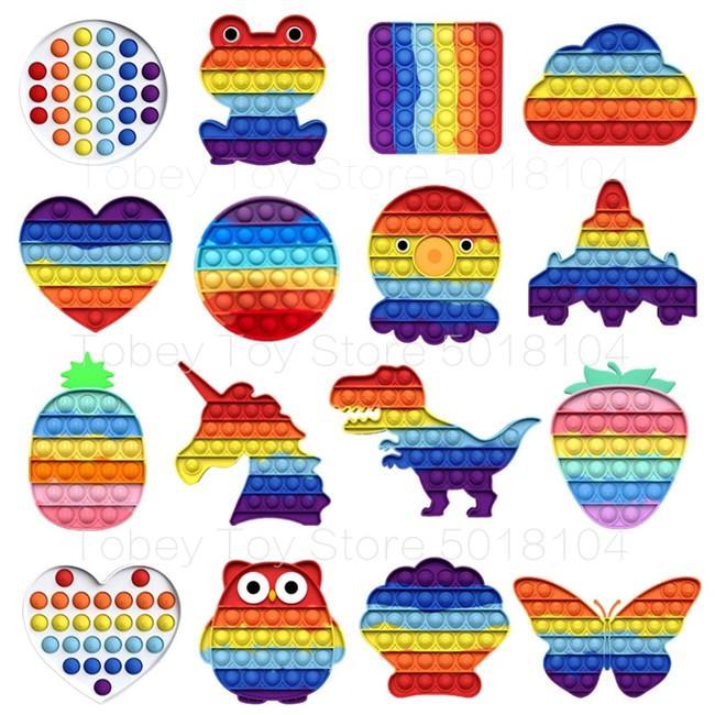 Tie-Dye Color Fidget Toys Сенсорный толчок пузырьковый аутизм специальные нужды беспокойство напряжение для студентов офисных работников