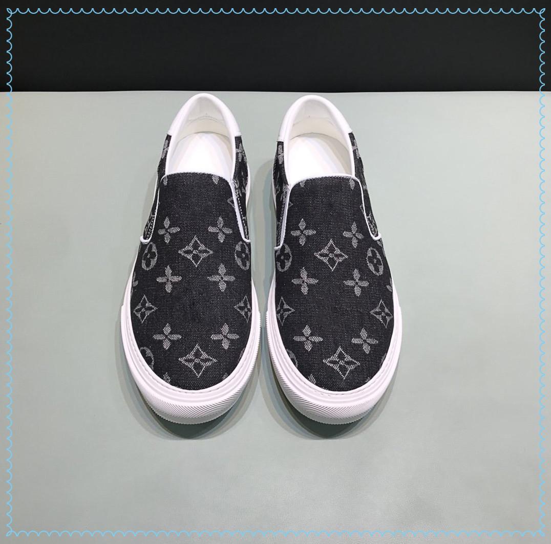 2021SS Lüks Yüksek Kaliteli erkek Marka Rahat Ayakkabılar Yan Elastik Tasarım Size38-45