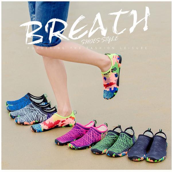2021 Hot Swimming Shoes Unisex Sneakers Size 35-46 Quick-Drying Aqua Shoes Water zapatos de mujer for Beach Women Men Shoe