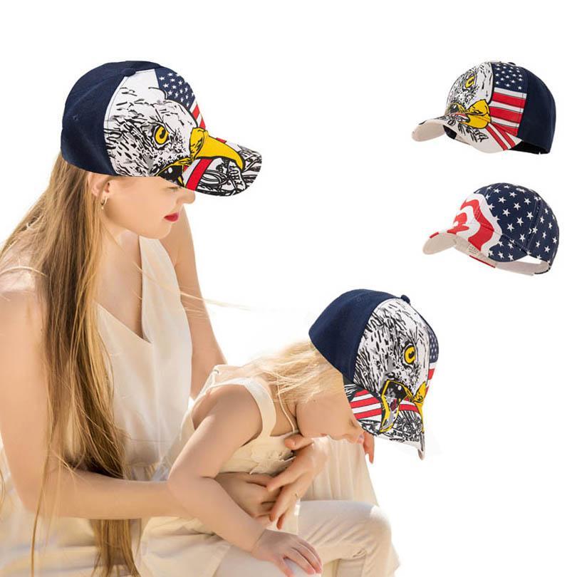 Mãe e filha pico tampão caçoas chapéu de beisebol bonés de bebê família para correspondência de família B5714