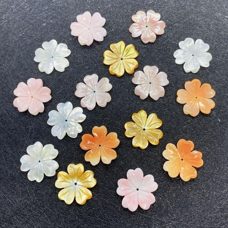 Charms 1pcs Natural Sea Shell Pendant Flowers Design Pink Queen Jewelry Making Accessories DIY Earrings Necklace Bracelet