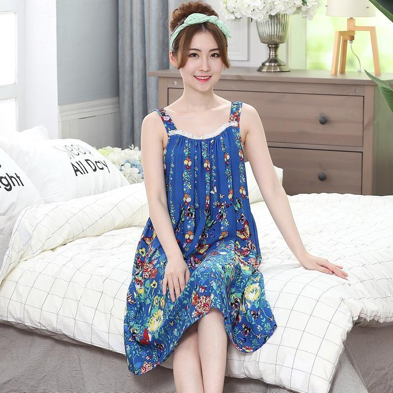 Übergröße Frauen Damen Nachtwäsche Nachthemden Sexy Baumwolle Sommer Nachthemd SleepShirts Sleepwear Lounge Casual Nightwear Weibliches Kleid