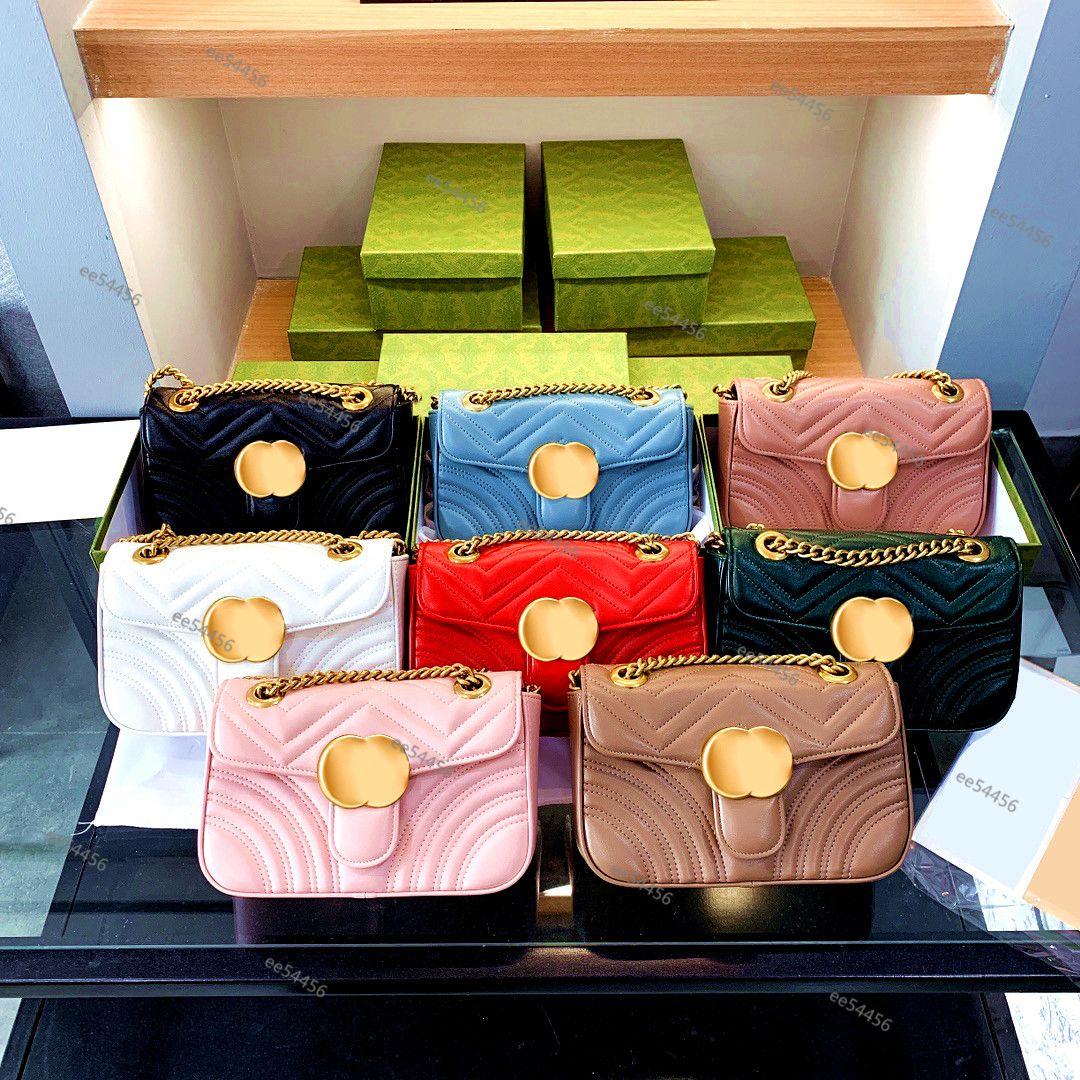 Top Quality Hobo Marmont Genuine Leather Designer sacos Tote Famoso Corrente Ombro Woens Soho Saco Luxurys Crossbody Ombres Carteira bolsas