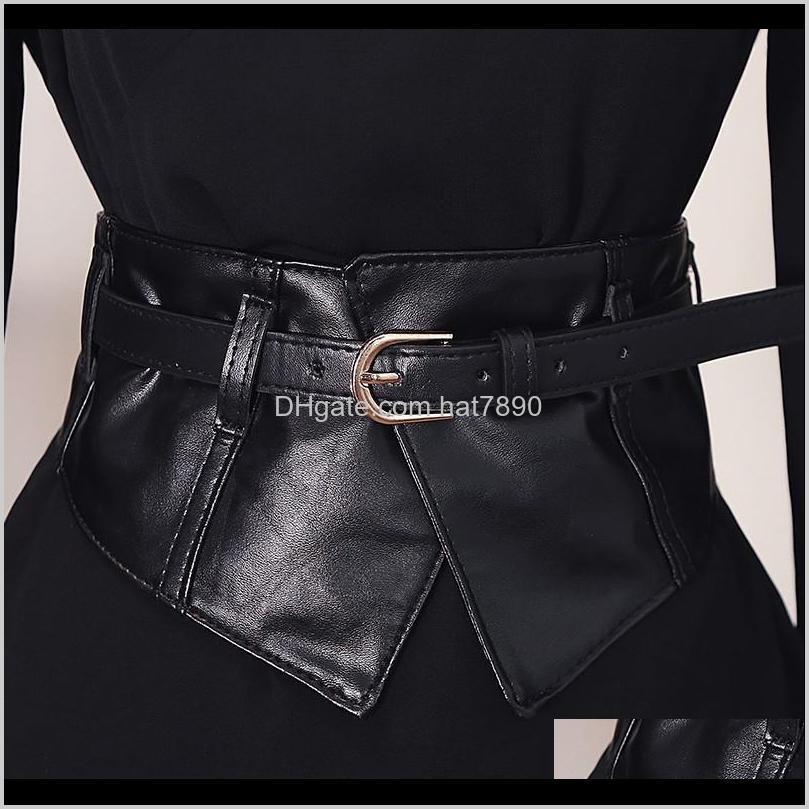 ولديسة الديكورات النساء peplum واسعة بو مرونة ضئيلة مشد أسود فو الجلود اللباس الخصر حزام cummerbund girdles دبوس مشبك بيل