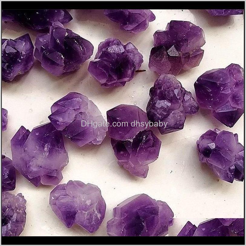 Arti e Arti, Artigianato Regali Casa Giardino Giardino Drop Consegna 2021 1 Borsa 100 G Natural Brasile Grappolo Ametista Flower Crystal Tumbled Stone (Dimensioni: