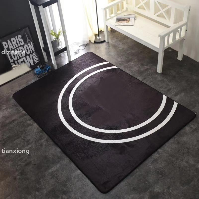 Jh 150 * 200 cm tapetes vintage letras impressas esteira de sala de estar interior de quarto de quarto multifuncional tapete de yoga lavável