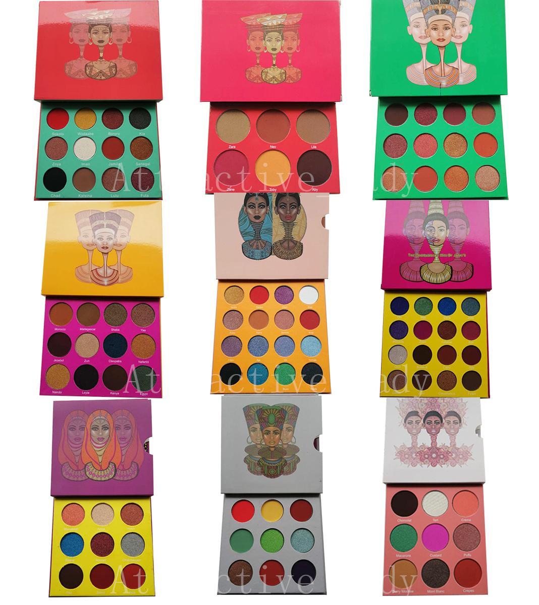 ماكياج النمذجة الساحرة مستحضرات التجميل المهنة ظلال العيون لوحات 12 أزياء لون لوحة