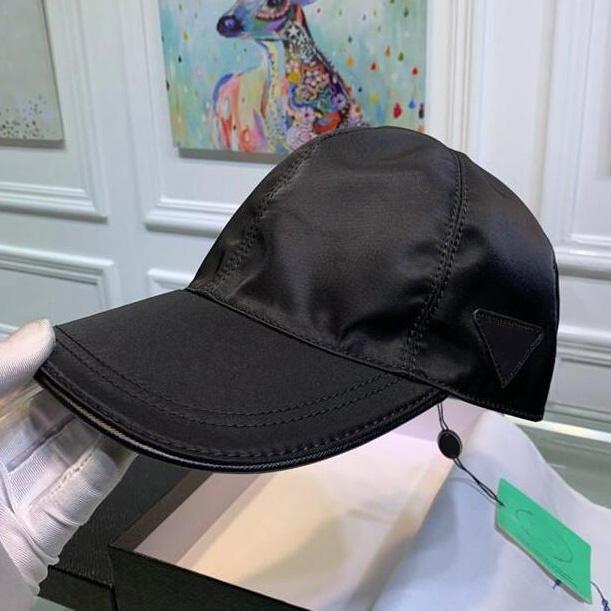 Prada p Toile de qualité Snapbacks en plein air Casquettes classiques Hommes Femmes chapeau Loisirs Triangulaire Icône en métal Chapeaux Style européen Sun Baseball Casquette