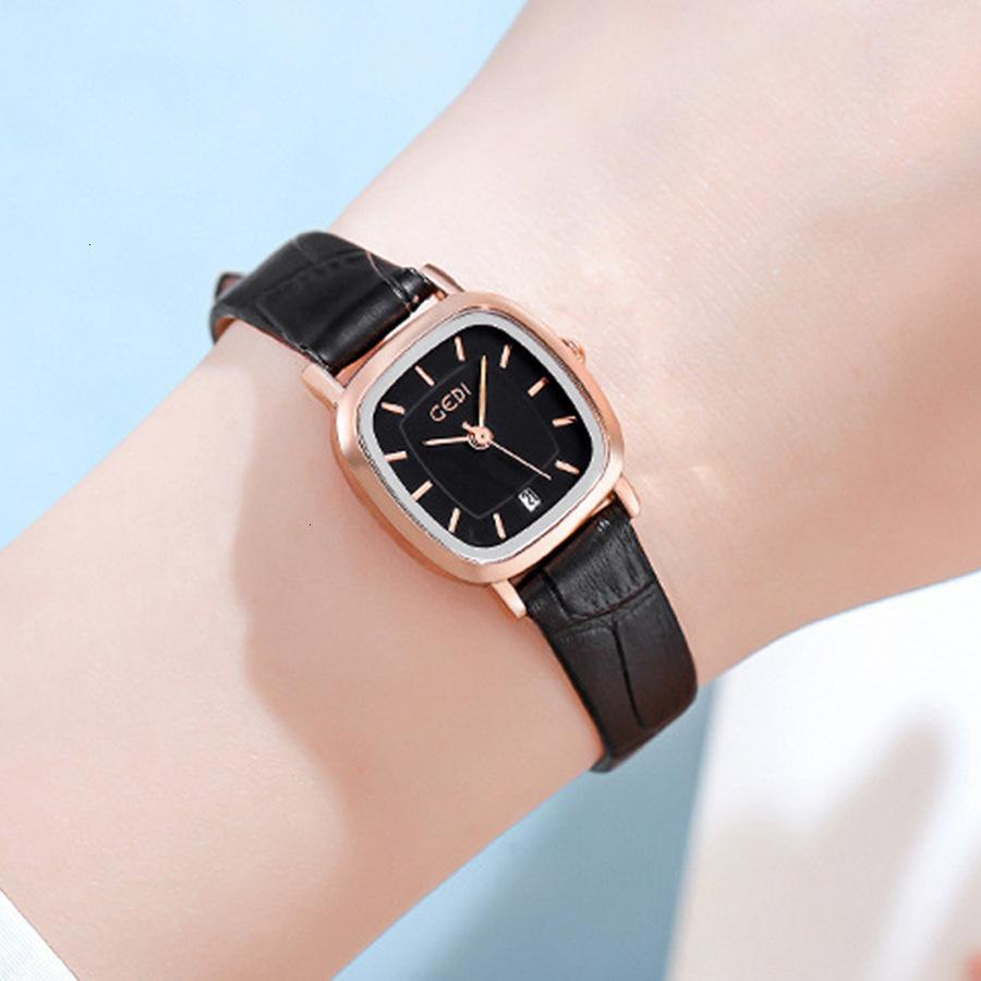 Jitter Net Red Live Browing Strap Simple Temperment Tiktok, Exquisite, Exquise Lady Square Watch