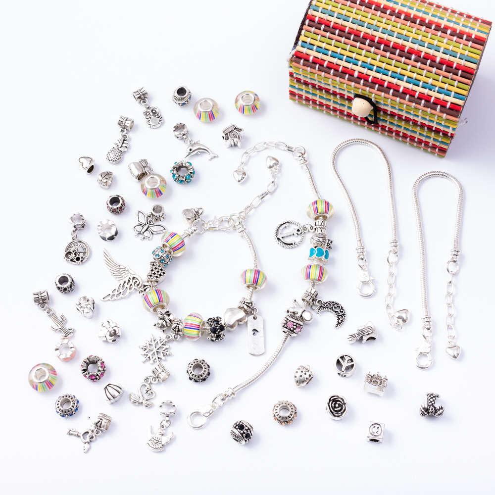 Linkcolorful conjunto moda menina diy cobra osso de prata prata pulseira 003