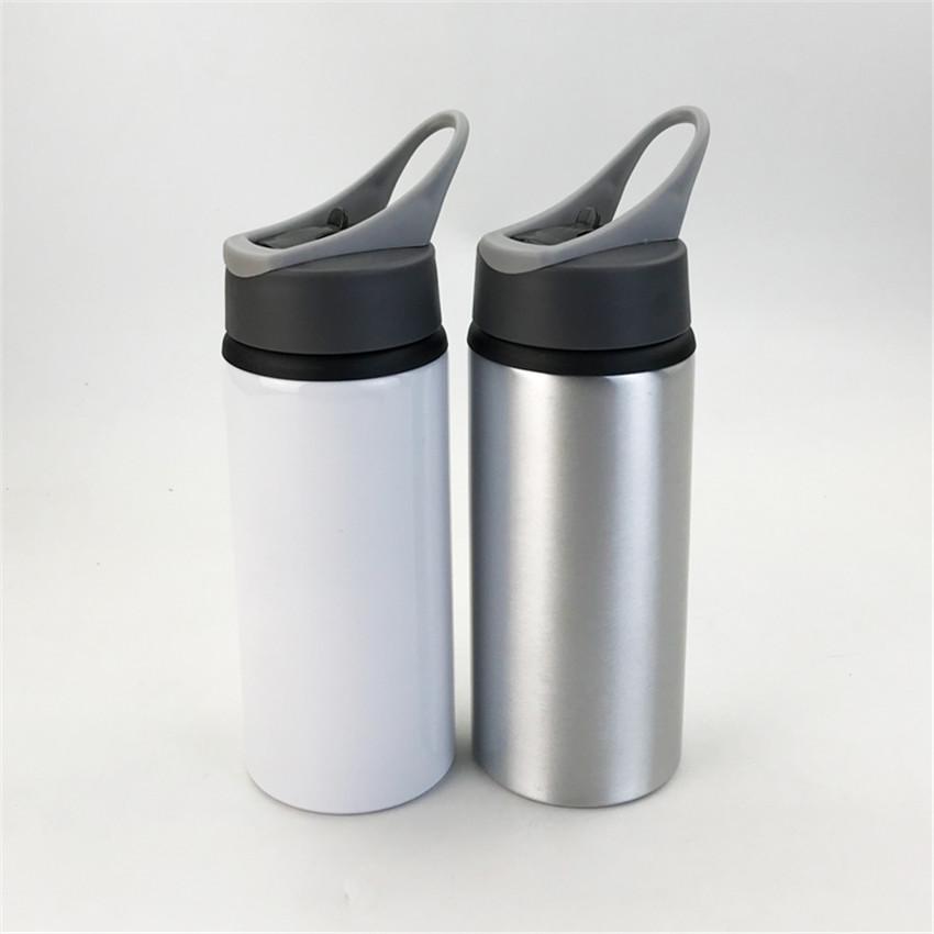 Tumblers de sublimação com alças garrafas de água de alumínio branco em branco canecas Themal transferência Beber copos A02