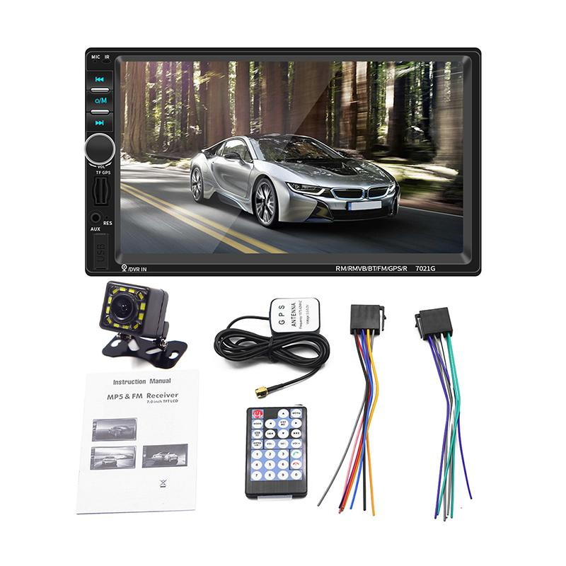 Audio Systems Apple CarPlay Car DVD Multimedia Player - Double Din 7 Inch Capacitive Touchscreen Bluetooth