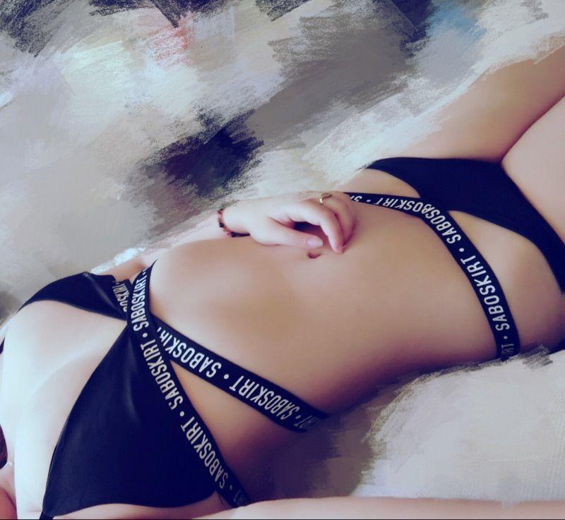 Bikinisexy Split Bikini Swimsuit Slim Resed Letter Stampa donna