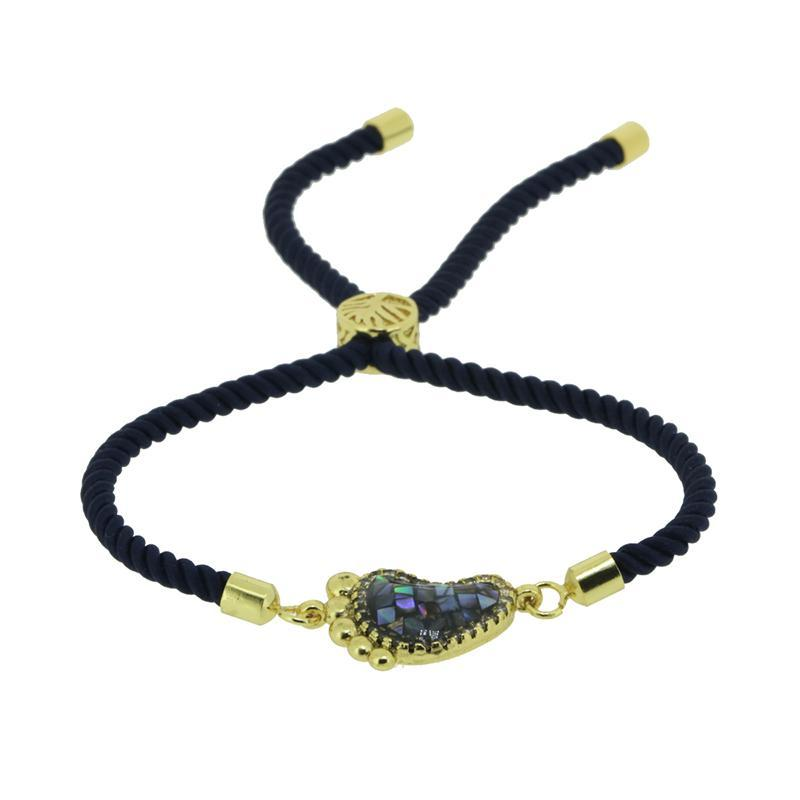 Charm Bracelets Handmade Braided Rope Chain Customized Adjustable Women Jewelry Bracelet Rhinestone Accessories Pulseras Mujer Bijoux