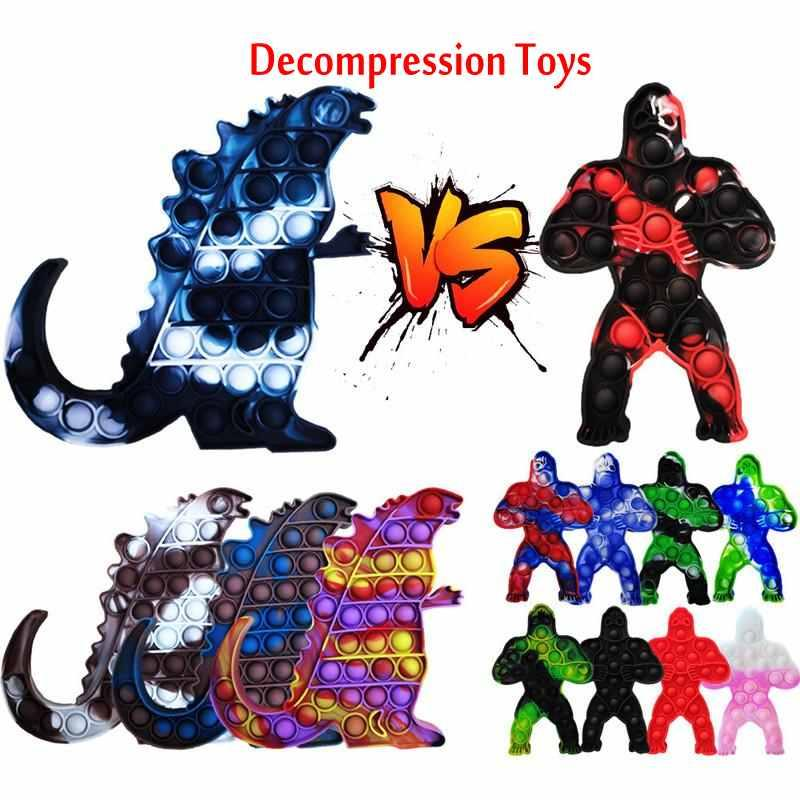 DHL Decompression Toy Godzilla Vs Kong King Anime Bubble Sensory Autism Special Need Kawaii Kid Funny Antistress Fidget Toys Boys Gifts CJ24