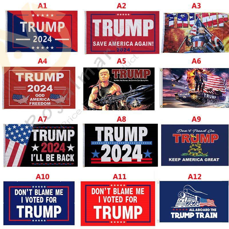 36 Stili 3 * 5 ft Trump 2024 Bandiere Salva America Ancora Banner 90 * 150 cm Bandiera del giardino