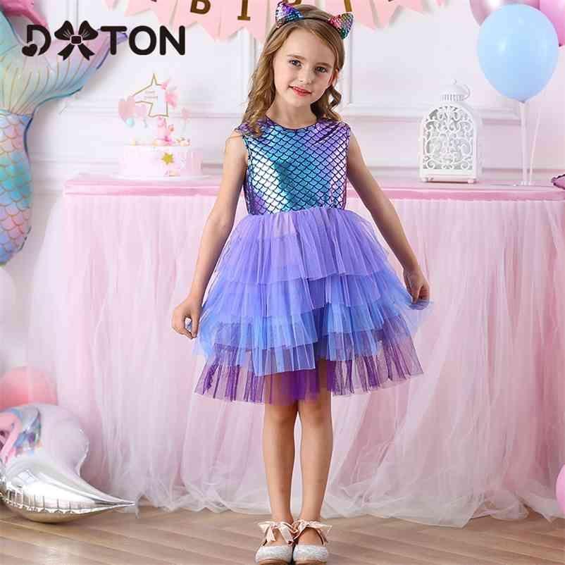 Dtton Sommer Kinder Kleider für Mädchen Sleeveless Party Prinzessin Kleid Kleinkind Geburtstag Mädchen Vestidos Kinder Tutu Kleid Kleidung 210402