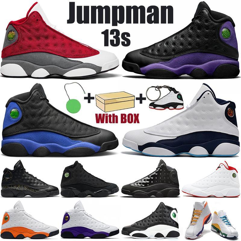 Высокое качество Jumpman 13s мужская баскетбольная обувь суд фиолетовый гипер королевский красный флинт золотой блеск аврора зеленые мужчины женщины спортивные тренажеры кроссовки с коробкой