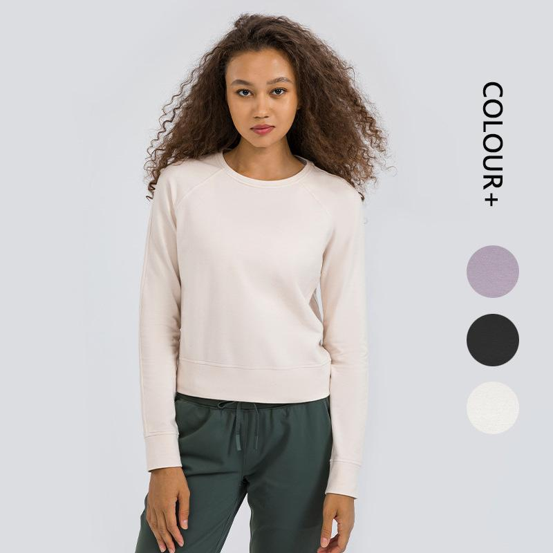 Women Tracksuit Tops Tees T-Shirt Clothing Sweater Womens Yoga Mat Sports Fitness Long-sleeved Running Loose Pants Quick-drying Stretch Warm Top girls joggers
