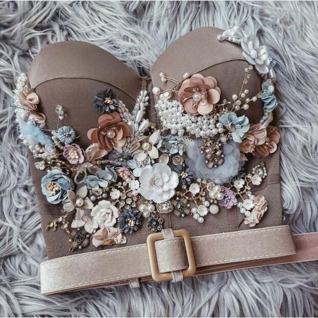 Bra Evening dress Yousef aljasmi Kendal Jenner Women dress Bra with flower