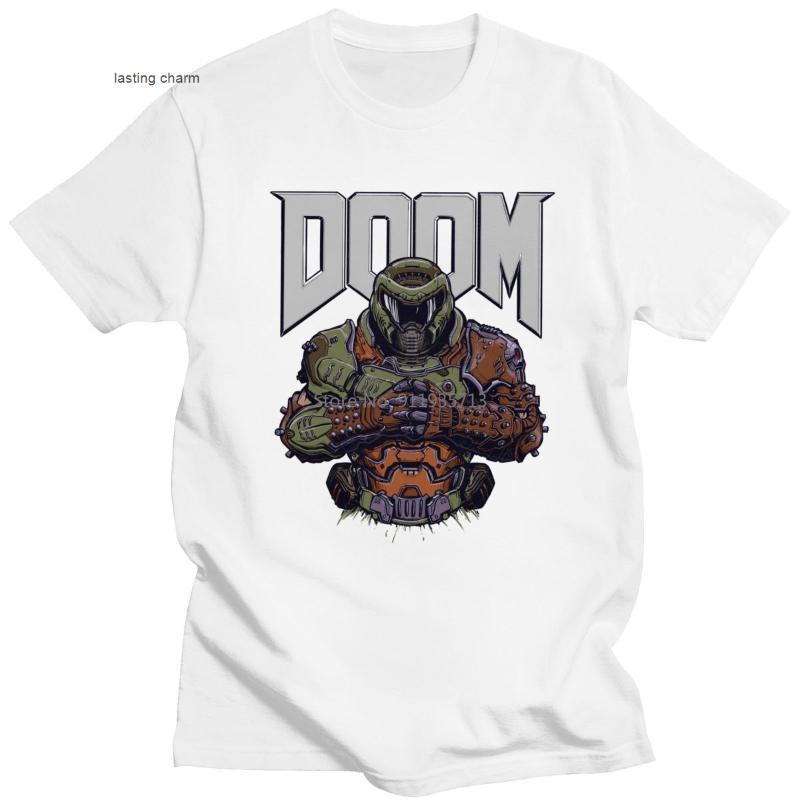 Camisetas para hombres Duradero Doom Eternal Men Sho Mouwen juego Slayer Skull Impreso Verano Streetwr Marca CLN Katoen T Tops