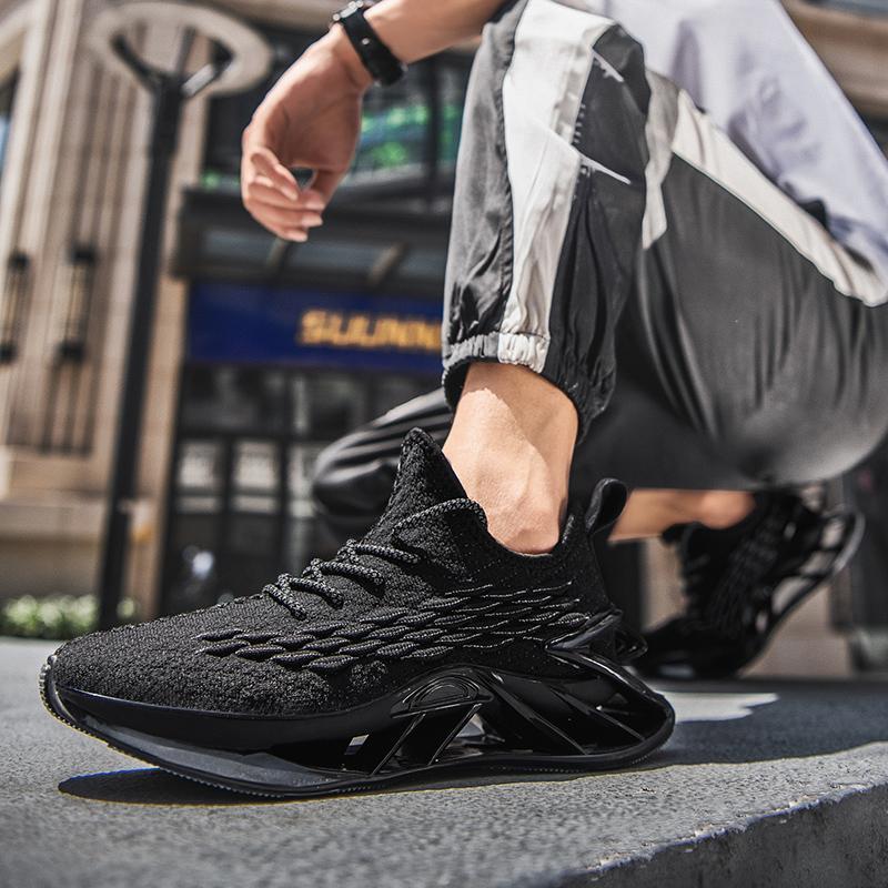 Zapatos para hombre para hombre para hombre Zapatos de moda 2020 Nueva Malla Amortiguador Malla Superficie Corriendo Deportes Boys Blade-Sharp